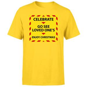 NHS Covid Christmas Seeing Love Ones Men's T-Shirt - Yellow