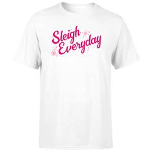 Snowy Sleigh Everyday Men's T-Shirt - White