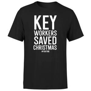Key Workers Saved Christmas Men's T-Shirt - Black