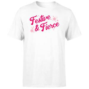 Snowy Festive & Fierce Men's T-Shirt - White