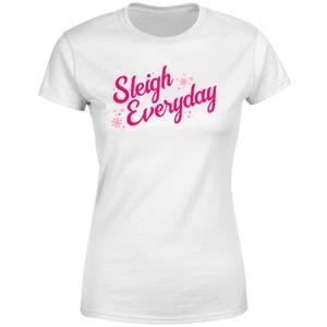 Snowy Sleigh Everyday Women's T-Shirt - White
