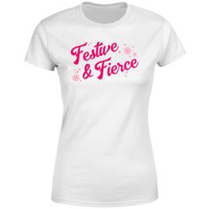 Snowy Festive & Fierce Women's T-Shirt - White