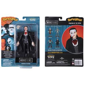 Noble Collection Universal Monsters The Phantom of the Opera BendyFig 7.5 Inch Action Figure