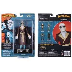 Noble Collection Universal Monsters The Invisible Man BendyFig 7.5 Inch Action Figure