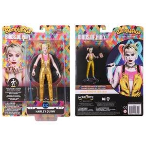 Noble Collection Birds of Prey Harley Quinn BendyFig 7.5 Inch Action Figure