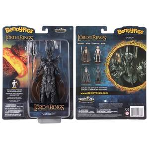 Noble Collection Lord of the Rings Sauron BendyFig 7.5 Inch Action Figure