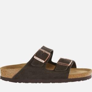 Birkenstock Women's Arizona Slim Fit Suede Double Strap Sandals - Mocha
