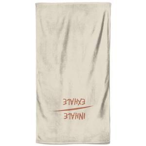 Yoga Inhale Exhale Yoga Beach Towel