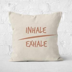 Yoga Inhale Exhale Square Cushion