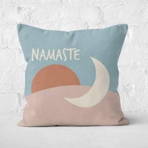 Yoga Namaste Square Cushion