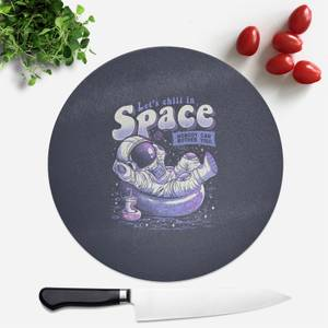 Chilling In Space Round Chopping Board