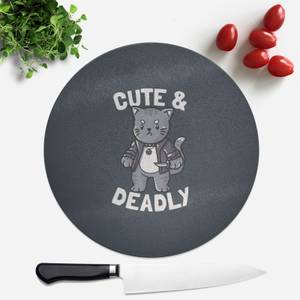 Cute And Deadly Round Chopping Board