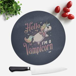 Hello, I'm A Vampicorn Round Chopping Board