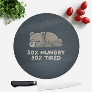 Hungry And Tired Round Chopping Board