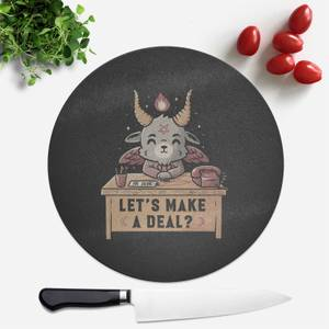 Lets Make A Deal Round Chopping Board