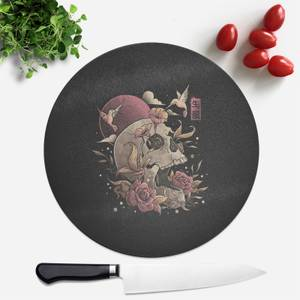 Life And Death Round Chopping Board