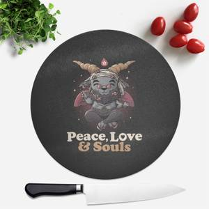 Peace Love And Souls Round Chopping Board