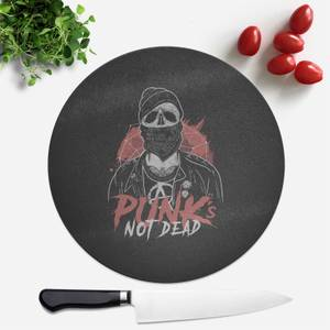 Punks Not Dead Round Chopping Board