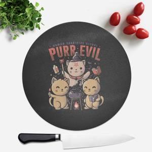 Purr Evil Round Chopping Board