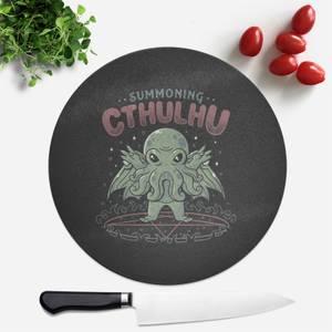 Summoning Cthulhu  Round Chopping Board