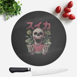 Sweet Death Round Chopping Board