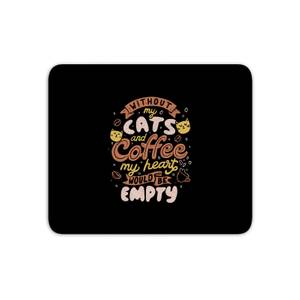 Cats And Coffee Mouse Mat