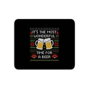 Its The Most Wonderful Time For A Beer Mouse Mat