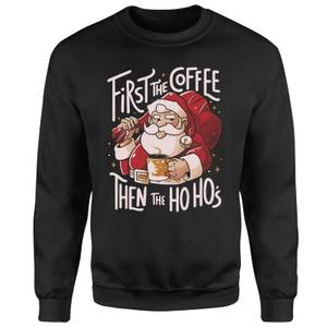 Santa Coffee Unisex Sweatshirt - Black