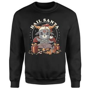 Hail Satan Santa Unisex Sweatshirt - Black