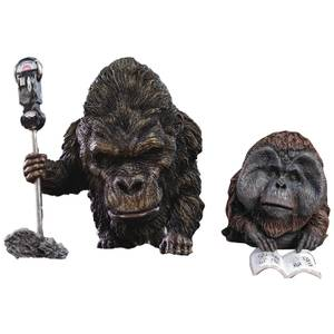 X-Plus DefoReal Series Rise of the Planet of the Apes Soft Vinyl Figure 2-Pack - Buck & Maurice