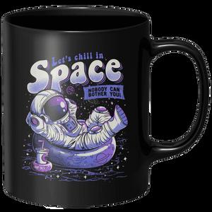 Chilling In Space Mug - Black