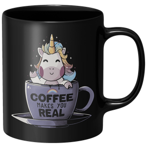 Coffee Makes You Real Mug - Black