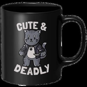 Cute And Deadly Mug - Black