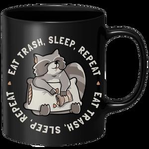 Eat Trash Sleep Repeat Mug - Black
