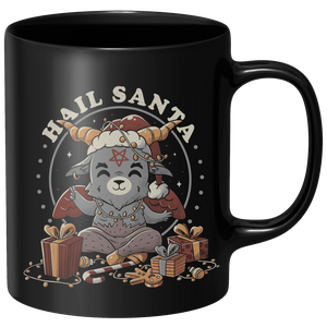 Hail Santa Mug - Black
