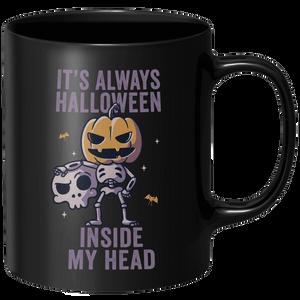 Its Always Halloween Inside My Head Mug - Black