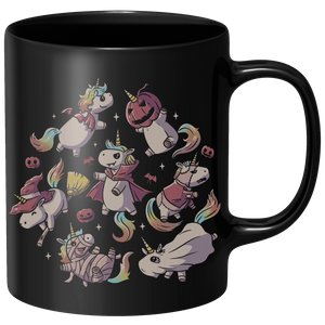 Halloween Unicorns Mug - Black