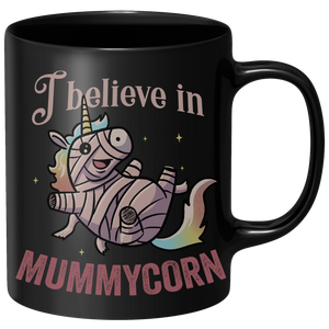 I Believe In Mummycorn Mug - Black