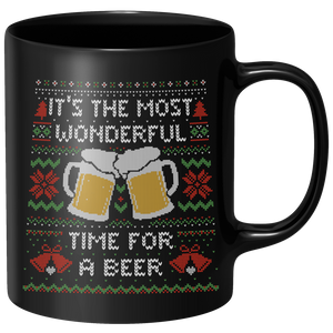 Its The Most Wonderful Time For A Beer Mug - Black