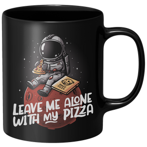 Leave Me Alone With My Pizza Mug - Black