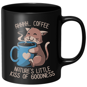 Nature's Little Kiss Of Goodness Mug - Black