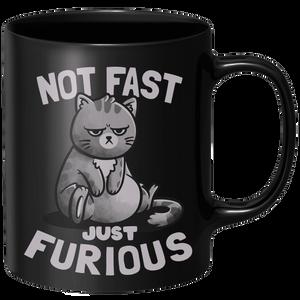 Not Fast Just Furious Mug - Black