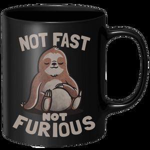 Not Fast Not Furious Mug - Black