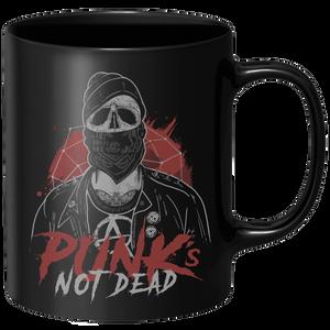 Punks Not Dead Mug - Black