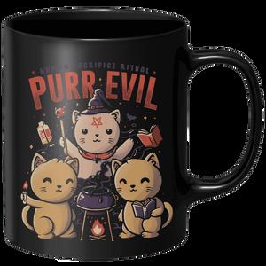 Purr Evil Mug - Black