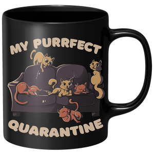 Purrfect Quarantine Mug - Black
