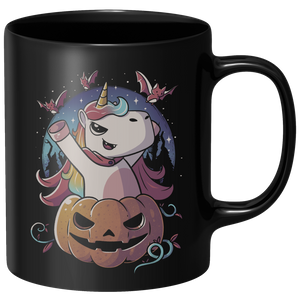 Spooky Unicorn Mug - Black