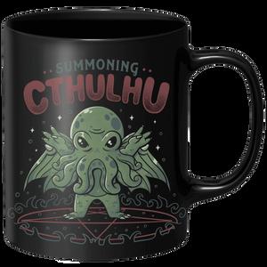 Summoning Cthulhu  Mug - Black