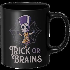 Trick Or Brains Mug - Black