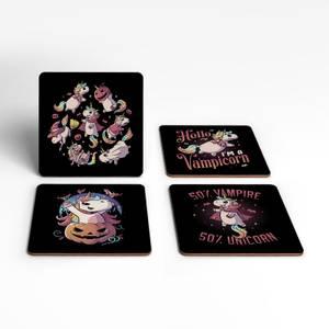 Vampicorn Coaster Set